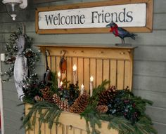 Prim Welcome from Flea Market Gardening on facebook