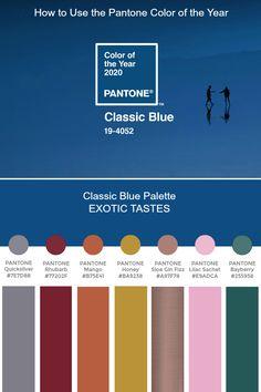 Pantone Color of the Year 2020 - Palette Exploration Pantone Colour Palettes, Pantone Color, Pantone Blue, Design Blog, Home Design, Design Design, Paleta Pantone, Pink Wedding Colors, Pantone 2020