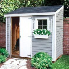 Backyard Storage Sheds, Storage Shed Plans, Backyard Sheds, Pergola Garden, Pergola Kits, Pergola Plans, Diy Pergola, Pergola Ideas, Patio Storage