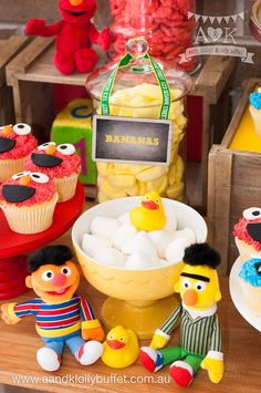 Sweets from a Vintage Sesame Street Birthday Party via Kara's Party Ideas | KarasPartyIdeas.com (16)