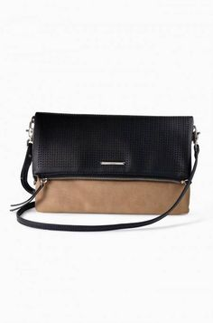 The Waverly Petite Balck Perf Crossbody Bag. Love the versatility of this bag! It can be a clutch, a shoulder bag, and it can extend into a longer version!