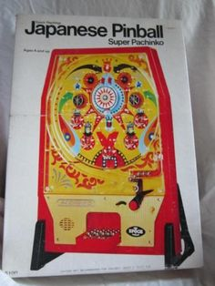 Vintage 1975 Japanese Pinball Super Pachinko Epoch Original Box 1970's Toy | eBay