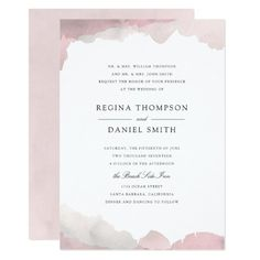 Debonair Turquoise Wedding Invitation An elegant wedding invitation design featuring a light turquoise watercolor painted border on a white background designed by Shelby Allison. Lavender Wedding Invitations, Nautical Wedding Invitations, Floral Wedding Invitations, Zazzle Invitations, Invitation Ideas, Wedding Stationary, Invitation Cards, Invitation Background, Monogram Wedding
