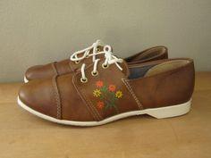 Brunswick Daisy Bowling Shoes Womens Size 7. $22.00, via Etsy.