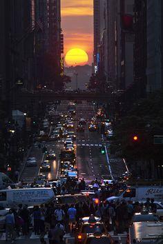 Fotos: el fenómeno solar que logra detener Nueva York