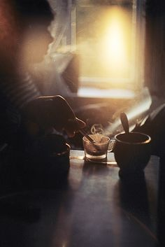 in the morning light. Why are cigarette pics so beautiful. Not condoning smoking though! Morning Light, Good Morning, Early Morning, Morning Ritual, Light Luz, Soft Light, Coffee And Cigarettes, My Sun And Stars, Peter Lindbergh