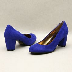 Blue low pumps by Kyumbie #simpleshoes