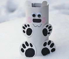 9 Easy Winter Crafts For Kids And Preschoolers Toilet Roll Polar Bear Winter Crafts For Kids, Easy Crafts For Kids, Diy For Kids, Fun Crafts, Diy And Crafts, Arts And Crafts, Toilet Roll Craft, Toilet Paper Roll Crafts, Crochet Butterfly Free Pattern