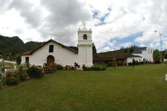 Beautiful side view of Orosi Church and museum