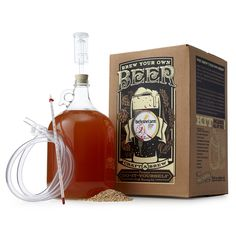 This do-it-yourself Beer Making Kit is equipped with everything you need to brew up a mouth-watering storm of pale ales, porters or saisons. Brew Shop, Brew Your Own Beer, Beer Brewing Kits, Beer Making Kits, Best Craft Beers, Home Brewing Equipment, Noah, Homemade Beer, Beer Gifts