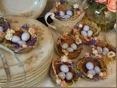 tablescapes with little bird nests