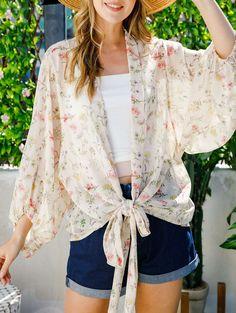 Beautiful Day, Kimono Top, Tie, Women, Products, Fashion, Kimonos, Moda, Fashion Styles