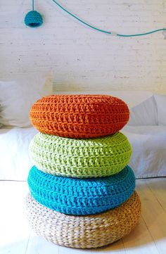 Floor Cushion Crochet Giant knit by lacasadecoto on Etsy