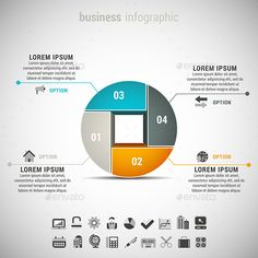 Vector illustration of business infographic. 22 icons inside file. ZIP includes free font link, EPS10and high resolution JPEG file