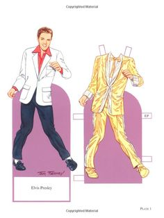 Rock and Roll Legends of the 1950s Paper Dolls (Dover Celebrity Paper Dolls): Tom Tierney: 9780486456607: Amazon.com: Books