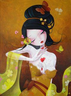 Flowery Silks by LadySybile.deviantart.com on @DeviantArt