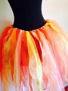 Fire tutu multi color Child MADE TO ORDER von KristinesKreationsLC