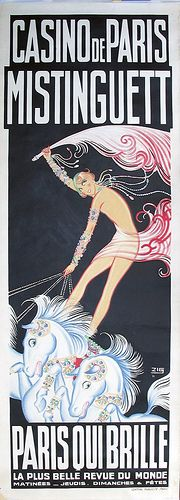 vintage poster Casino de Paris Mistinguett