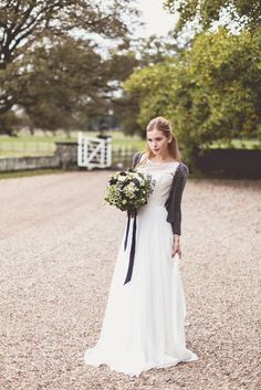 A glittery sequinned cardi  | The Best Bridal Cover Ups For Winter Weddings | Image by Anna Clarke Photography | http://www.rockmywedding.co.uk/bridal-cover-ups/
