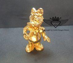 Daisy Duck 24 Karat vergoldet.Gold, Gold Plating, 24 K, Vergoldet, Elektro Plating