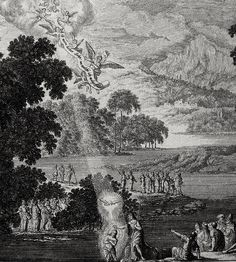 Philip De Vere presents Bowyer Bible print 28.3506 John baptises Jesus Matthew 3:13-16 Perelle on Flickr. A print from the Bowyer Bible, a grangerised copy of Macklin's Bible in Bolton Museum and Archives, England. Photo: Harry Kossuth. Text: Phillip...