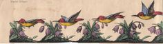 Zoetrope strip sold by Clarke: 'Humming Bird'
