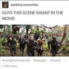 Ikr!!! I realized that when I thought of hiw the hulk refused to come out, and then remembered thus scene and i was all like OMG MARVEL marvel you fucking sob