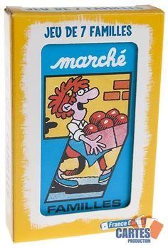 """Jeu de 42 cartes : 7 Familles """"Marché"""" Vintage, Childhood Memories, Drawer, Toys, Cards, Vintage Comics"""