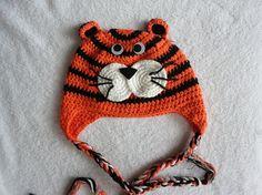 Tiger Hat - Crochet Animal Hat