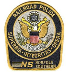Norfolk Southern Transit Authority, Railroad, Police, Shoulder Patch,