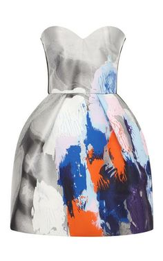 Beauty And Art Jacquard Strapless Dress by MSGM for Preorder on Moda Operandi