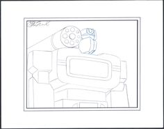 Transformers Signed Production Animation Cel layout drawing Marvel 1984-7 2* by CharlesScottGallery on Etsy