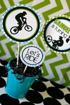 Ideas Dirt Bike Birthday Party Ideas Motocross Etsy For 2019 Dirt Bike Party, Bicycle Party, Bike Birthday Parties, Dirt Bike Birthday, Boy Birthday, Birthday Gifts, Birthday Ideas, Skateboard Party, Bricolage