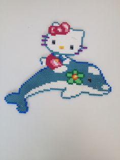 Hello Kitty hama perler beads by Carina Bergenstoff
