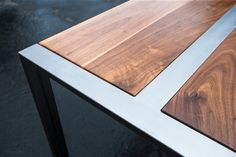 Leafed 'Zeeva' Dining Table // Claro Walnut // by MezWorks on Etsy