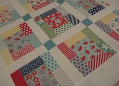 Baby Quilt Top Moda April Showers Charm Pack   eBay
