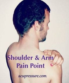 SHOULDER TENSION & PAIN RELIEF: Place the palm of your hand on the tip of your shoulder cap & your middle finger will be on SI10. Press it inward toward your spine to relief shoulder & arm problems. Hold for 2 to 3 minutes while breathing deeply. Then slowly knead your shoulder muscles, breathing deeply & you'll find that it releases like a charm. For more points, learning materials & self-care programs go to: Acupressure.com