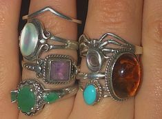 Grunge Jewelry, Funky Jewelry, Hand Jewelry, Hippie Jewelry, Cute Jewelry, Jewelry Rings, Jewelery, Jewelry Accessories, Hipster Grunge