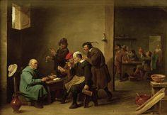 Afbeelding David Teniers - D.Teniers d.J., Gaststube mit Rauchern