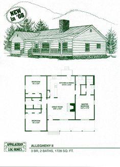Log Home Package Kits - Log Cabin Kits - Allegheny II Model