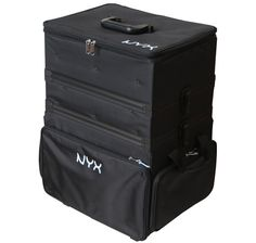 NYX Cosmetics 3 Tier Stackable Makeup Artist Train Case Black/White