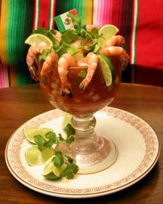 "Shrimp and Gazpacho Cocktail ""The Other Shrimp Cocktail"".  Pair this with Victoria Cerveceria Modelo, Mexico.....WOW!!!!"
