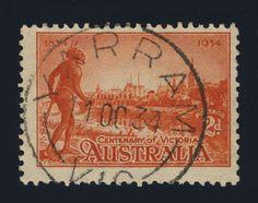 AUSTRALIA - 1934 - SG147a  2d SCARLET p.11 1/2 CANCELLED CDS OF YARRAM, VICTORIA