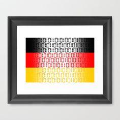 digital Flag (Germany) Framed Art Print by seb mcnulty - $32.00