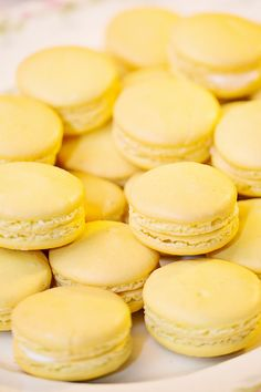 Yellow Macarons -- Been missing yellow! See the wedding on #smp here: http://www.StyleMePretty.com/little-black-book-blog/2014/04/15/vintage-orlando-lake-lucerne-wedding/ Photography: Claudette Montero From AlucinarteFilms.com Barefoot Wedding, Little Black Books, Vintage Yellow, Dessert Bars, Gold Wedding, Wedding Candy, Pastel Weddings, Yellow Weddings, Lucerne