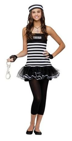 This teenage guilty prisoner costume is a must have to pair with police costumes. Check out all of our kids robber costumes and girls convict costume ideas today! Costumes For Teenage Girl, Girl Group Halloween Costumes, Easy Homemade Halloween Costumes, Tween Costumes, Halloween Party Kostüm, Celebrity Halloween Costumes, Kids Costumes Girls, Cute Costumes, Police Costumes