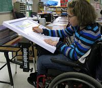 promising desk for individuals for disabilities.  Visit www.YourTherapySource.com for more pediatric therapy resources.