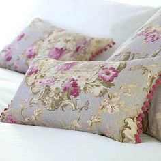 Vintage fabric pillows.