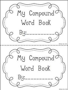 Compound Word Flip Book II