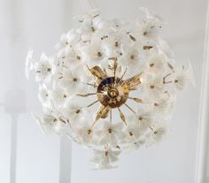 A 1960's Italian Art Glass Ceiling Fixture | From a unique collection of antique and modern chandeliers and pendants at http://www.1stdibs.com/furniture/lighting/chandeliers-pendant-lights/